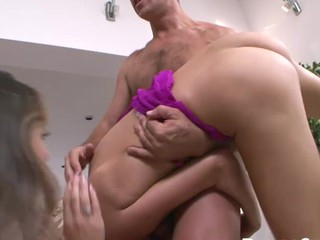twosome Hawt Nubiles Having Fun Engulfing first of all Rocco's Permanent & Huge Shlong