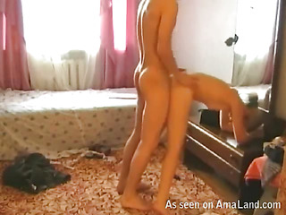 Busty woman undresses and performs exact handjob thither fellow